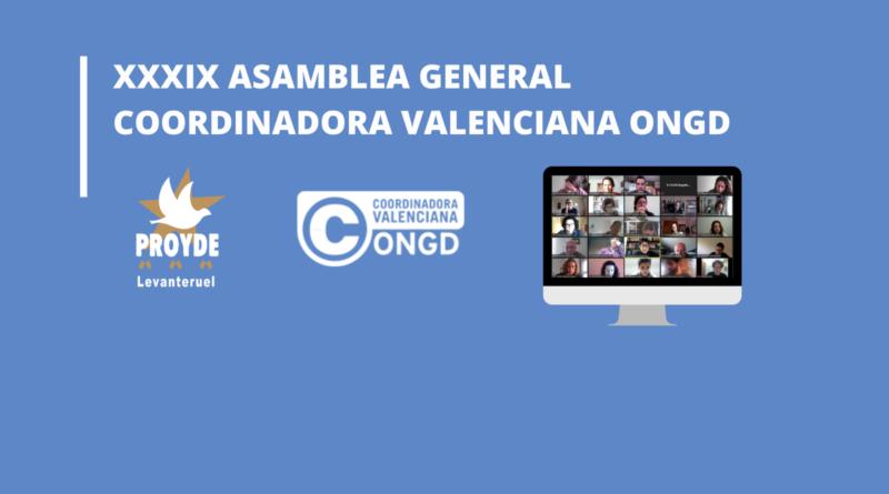 XXXIX Asamblea General de la Coordinadora Valenciana ONGD